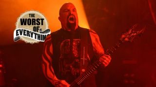 Kerry King of Slayer performs during the Repentless World Tour at Riviera Theatre on February 19, 2016 in Chicago, Illinois
