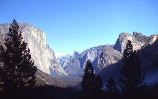 A valley in Yosemite National Park, in California