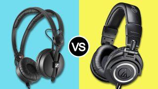 Sennheiser HD 25 vs Audio-Technica ATH-M50x: music production headphones head-to-head