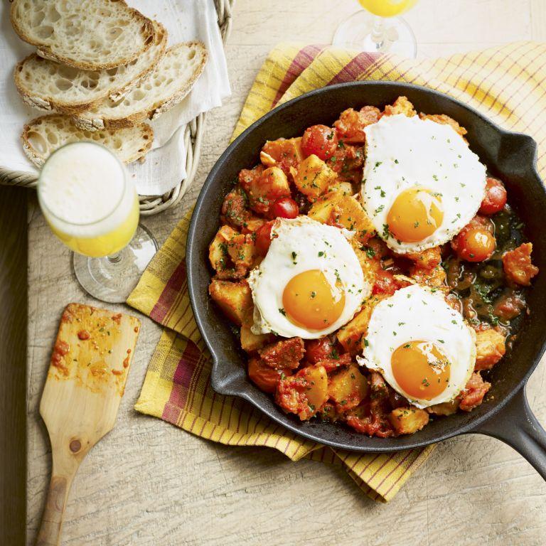chorizo and patatas bravas - May 2013 - Something special food - woman and home