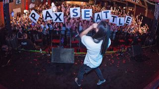 AUGUST 28: Steve Aoki performs a concert hosted by NetEase Games to celebrate the launch of its first mobile game in the West, Speedy Ninja during PAX at Showbox Sodo on August 28, 2015 in Seattle, Washington.