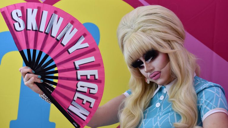 Drag artist Trixie Mattel poses during DragWorld UK at Olympia London on August 17, 2019 in London, England. DragWorld UK, Europe's largest celebration of drag with the world's favourite Drag stars discussing everything about Drag, from the power of makeup to mental health and drag beyond gender.