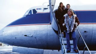 ELP disembarking from a plane