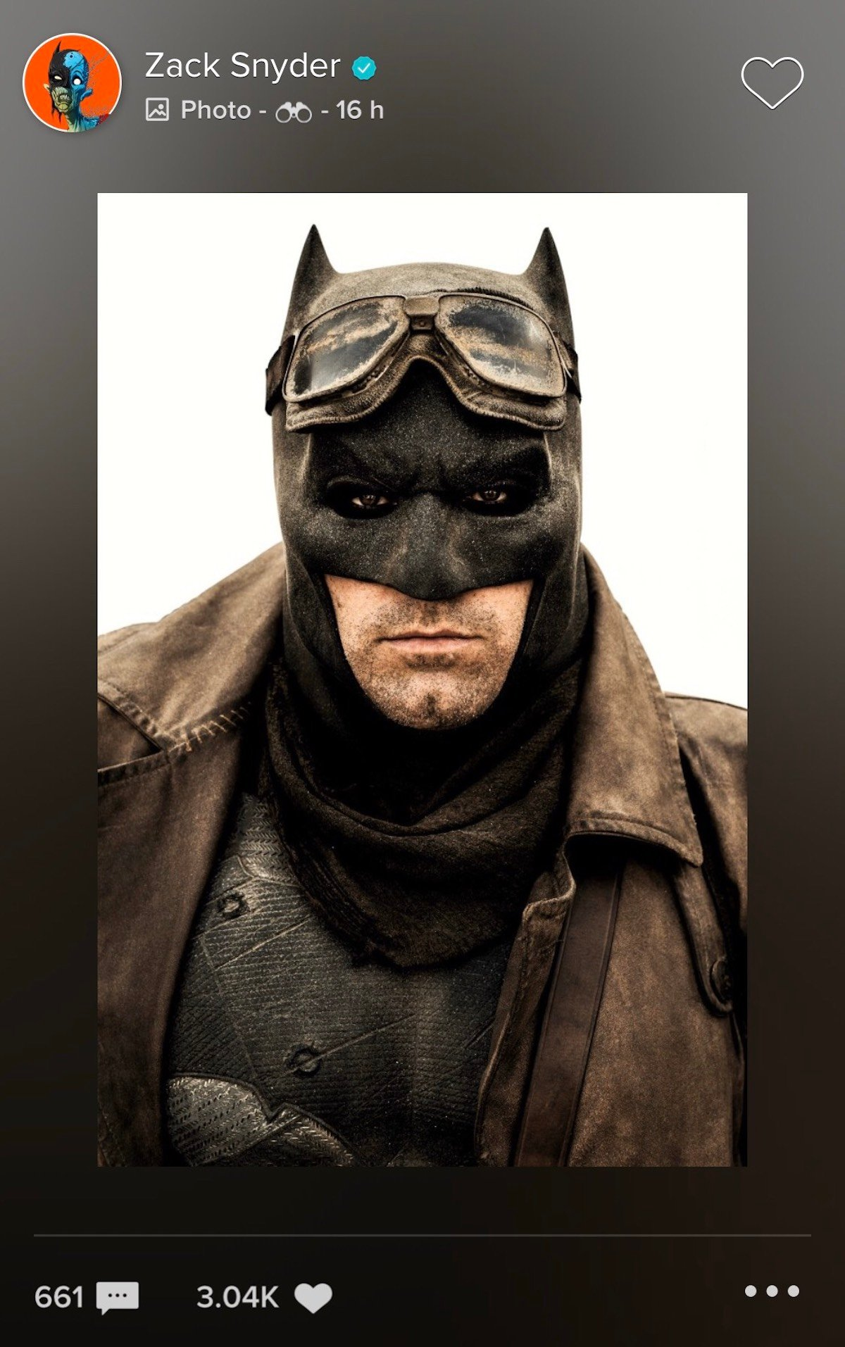 Ben Affleck as Batman on Vero