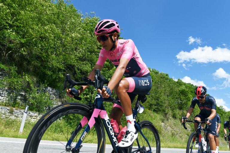 Egan Bernal on stage 10 of the 2021 Giro d'Italia