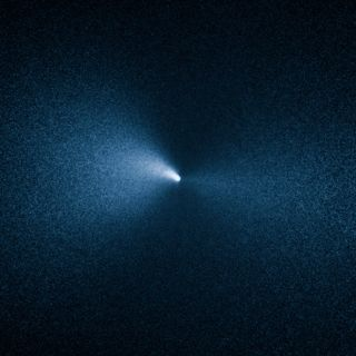 The Hubble Space Telescope captured this close-up view of Comet 252P/LINEAR on April 4, 2016. At the time, the comet was 8.6 million miles (14 million kilometers) from Earth.