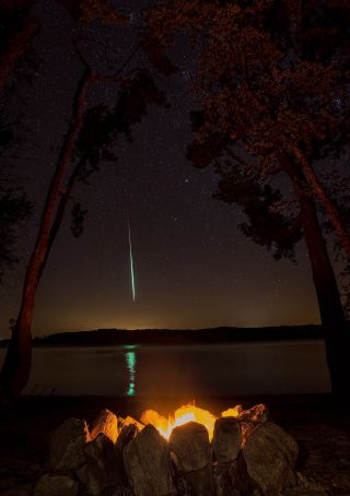 Perseid Fireball By Sheridan