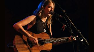 Alexandra Mann of Sisters Mann performs live