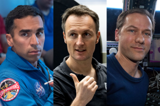 (From left to right) NASA astronauts Raja Chari and Tom Marshburn and ESA astronaut Matthias Maurer have been chosen to fly on SpaceX's Crew-3 mission.