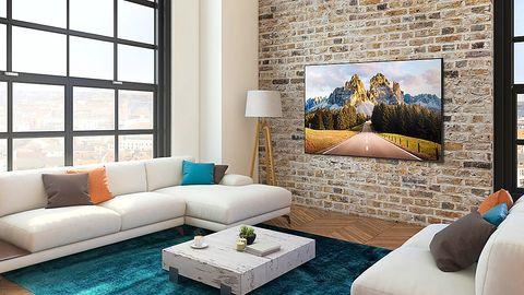 Le Samsung AU7100 dans un salon