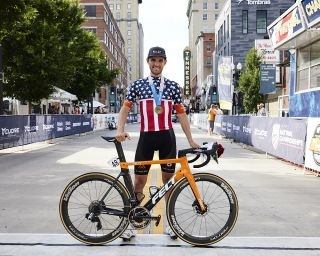 Joey Rosskopf (Rally Cycling) at the elite men's road race at the USA Cycling Pro Road Championships 2021