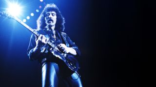 Live photo of Black Sabbath guitarist Tony Iommi