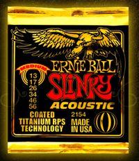Ernie Ball Slinky Acoustic coated guitar strings