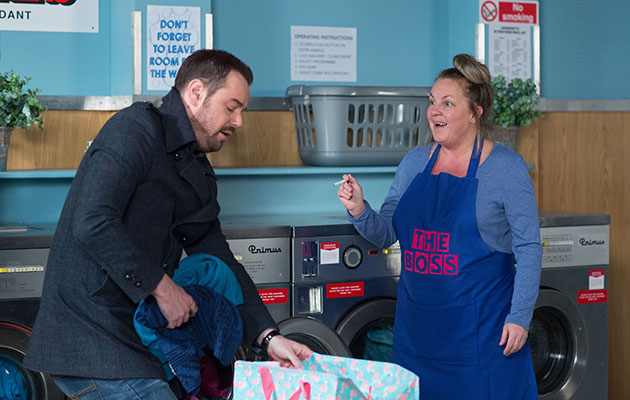 Karen Taylor earns some extra money in EastEnders - but things go wrong!r