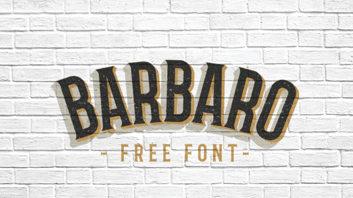 Barbaro free font