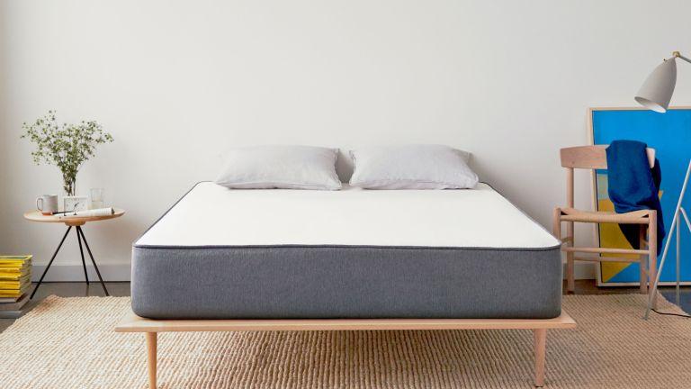 casper mattress on low bed frame