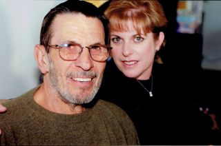 An undated photo of Leonard Nimoy (left) and his daughter, Julie (right).