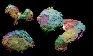 Comet 67P Regions