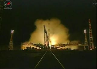A Russian Soyuz rocket launched the new Progress 46 cargo ship torward the International Space Station at 6:06 p.m. EST Jan. 25, 2012 from Baikonur Cosmodrome in Kazakhstan.