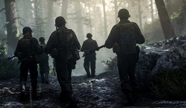 Soldiers march ahead in Call of Duty: WWII