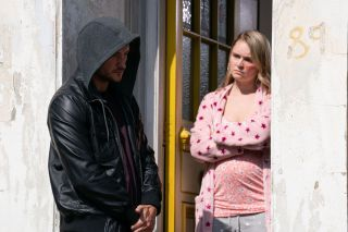 EastEnders Martin Fowler helps Tubbs with a collection