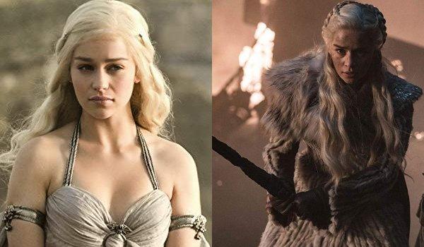 Game of Thrones Daenerys Targaryen Then and Now