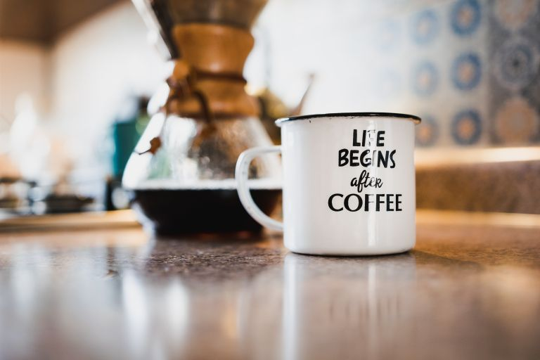 Pour over coffee brewer and coffee mug- Free stock from Unsplash.com