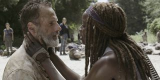 Rick and Michonne on _The Walking Dead._