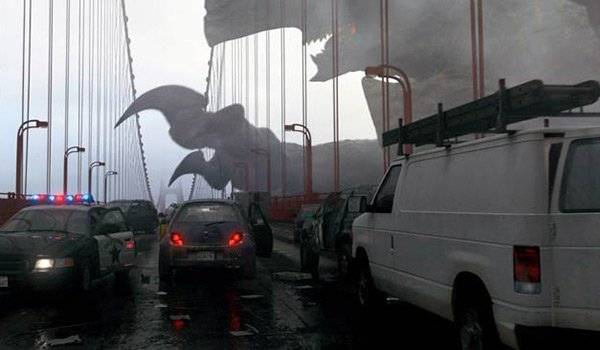 kaiju threatens bridge pacific rim