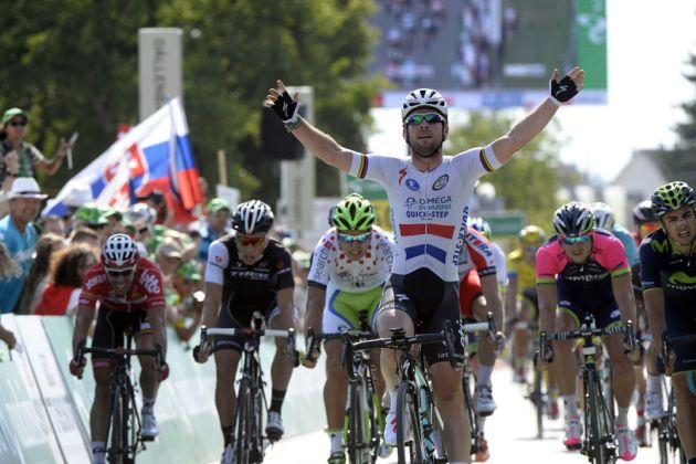 Mark Cavendish wins stage four of the 2014 Tour de Suisse
