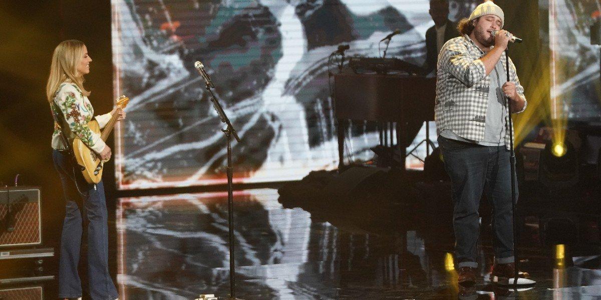 Sheryl Crow singing with Graham DeFranco American Idol ABC