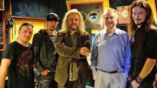 Nightwish in the studio with Richard Dawkins