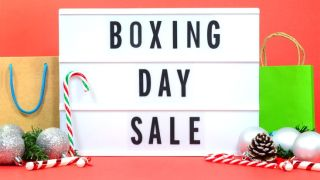 A boxing day sales sign