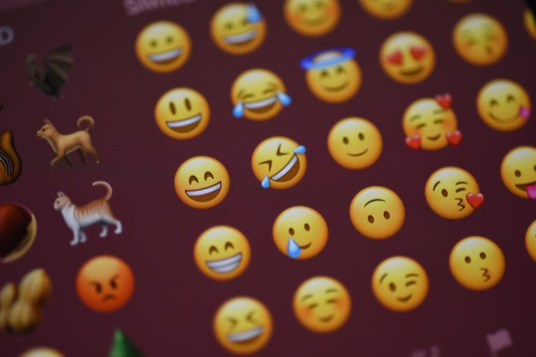 Emoji displayed on iPhone