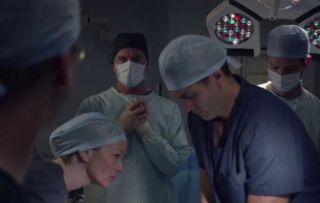Guy operates on Tristan in Holby City