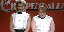 SNL Writer Robert Smigel Defends Chris Farley's Legendary Chippendales Sketch