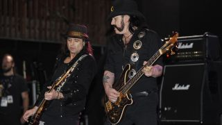 Phil Campbell (L) and Lemmy of Motorhead perform at the Austin Music Hall as part of SXSW 2010