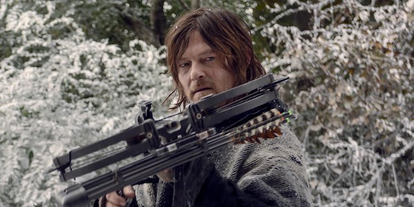 daryl in the snow on the walking dead