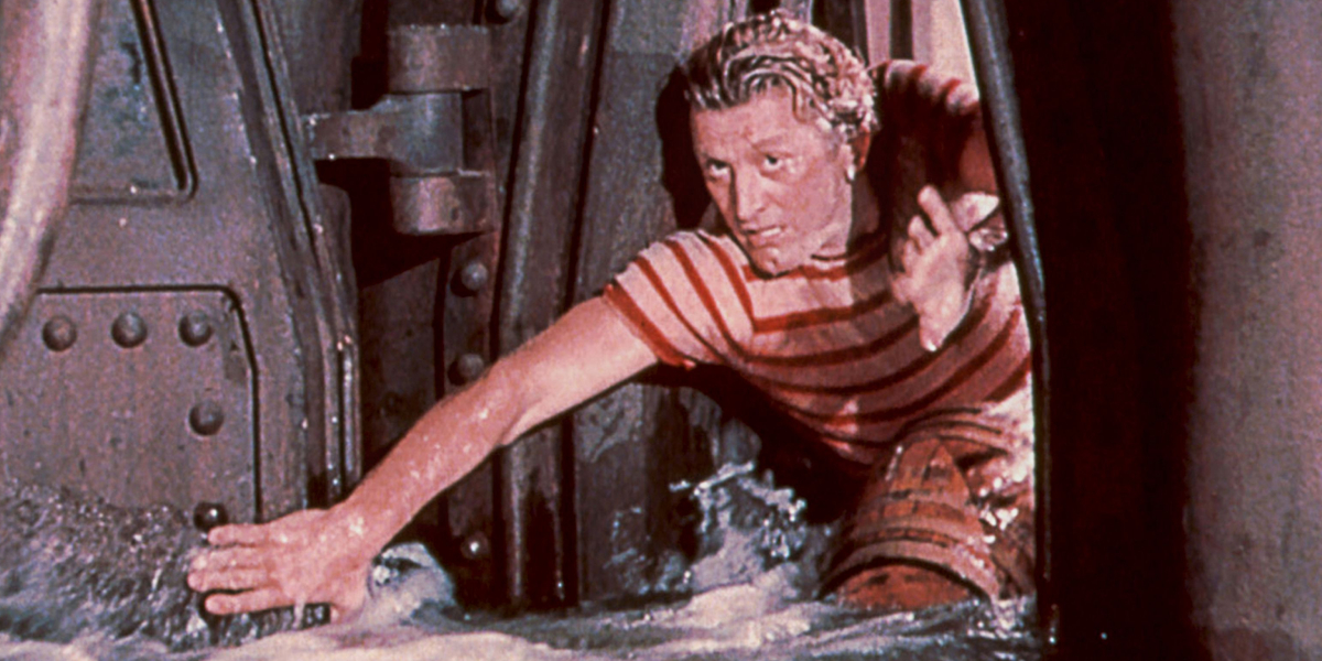 Kirk Douglas in 20,000 Leagues Under the Sea