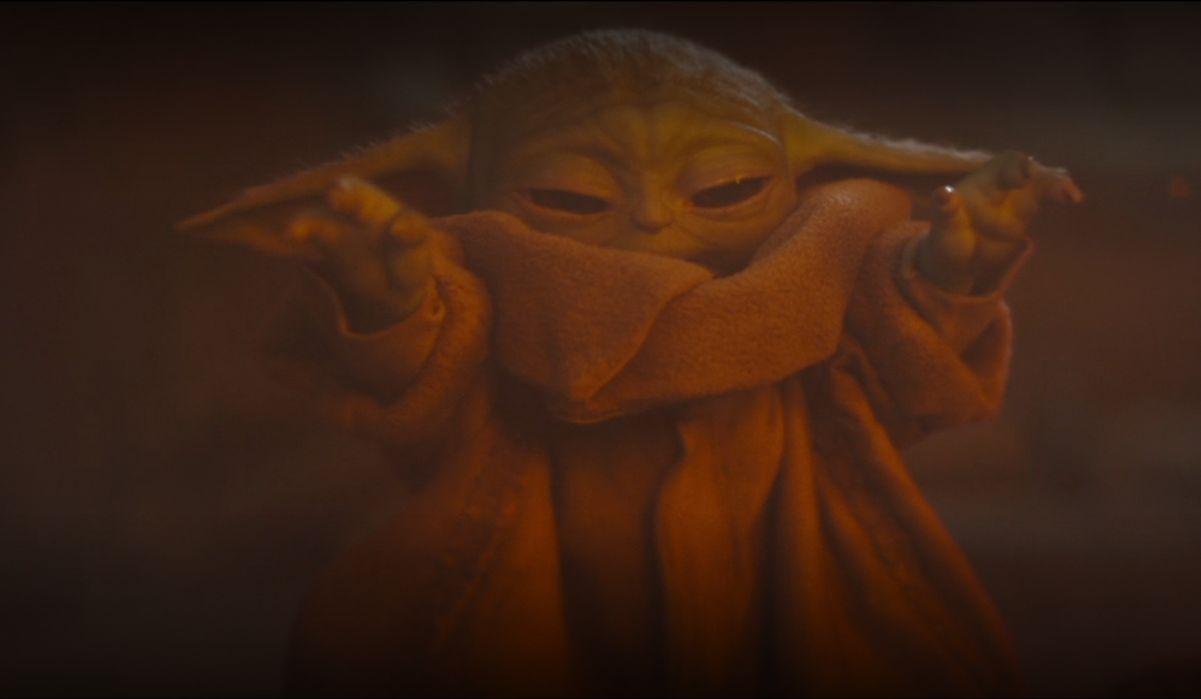 Yoda pushing back fire