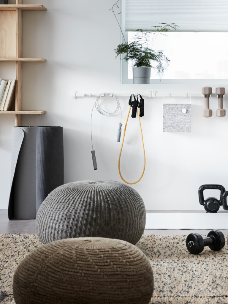 Ikea small gym ideas