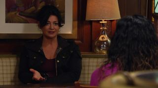 Moira Dingle wants Chas to compensate her son Matty for his injuries