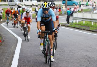 Belgiums Wout van Aert rides during the mens cycling road race of the Tokyo 2020 Olympic Games finishing at the Fuji International Speedway in Oyama Japan on July 24 2021 Photo by Tim de Waele POOL AFP Photo by TIM DE WAELEPOOLAFP via Getty Images