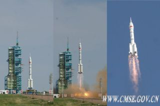 Liftoff of Shenzhou 10 Crew