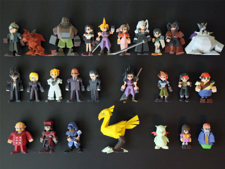 Final Fantasy VII' Characters 3D Printed Straight from the