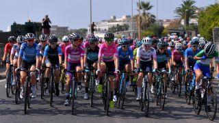 Annemiek van Vleuten in the overall race lead at the 2020 Giro Rosa