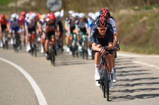 MANRESA SPAIN MARCH 26 Luke Rowe of United Kingdom and Team INEOS Grenadiers during the 100th Volta Ciclista a Catalunya 2021 Stage 5 a 2015km stage from La Pobla De Segur to Manresa 220m VoltaCatalunya100 on March 26 2021 in Manresa Spain Photo by David RamosGetty Images