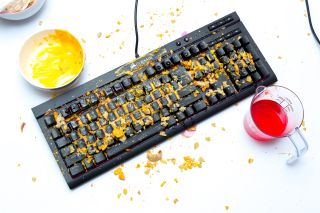 Corsair s K68 is built for the clumsy Or those of us who just eat at our desks