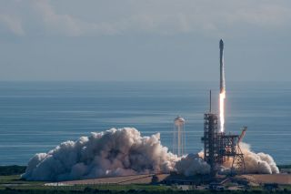A SpaceX Falcon 9 rocket launches the U.S. Air Force's X-37B space plane into orbit from NASA's Pad 39A at the Kennedy Space Center in Cape Canaveral, Florida on Sept. 7, 2017.