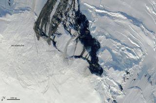 Earthquake-Induced Avalanche